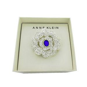 ANNE KLEIN Multi-Crystal Brooch $28.00